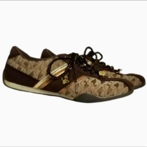 Baby Phat sneakers gold, tan and brown EUC 7.5